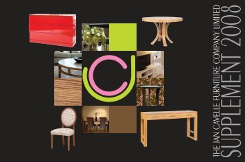 THE JAN CAVELLE FURNITURE COMPANY LIMITED - Hotel Designs