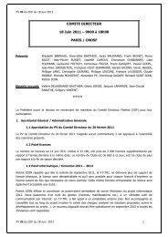 PV 03 du CD 18 Juin 2011 - Fédération Française de Triathlon