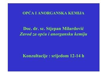 Predavanje 01 (doc. dr. sc. S. Milardović) - ZOAK FKIT