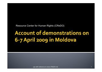 Resource Center for Human Rights (CReDO) - Office of the High ...