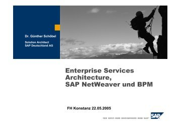 Enterprise Services Architecture, SAP NetWeaver und BPM