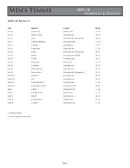 Men's Tennis 2009-10 Individual Results