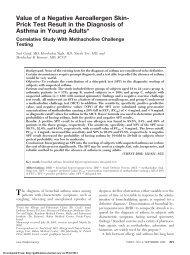 Value of a Negative Aeroallergen Skin- Prick Test Result in the ...