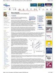 Kano Analysis - Serena Software