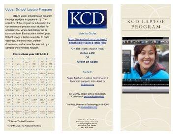 Laptop Program brochure - Kentucky Country Day