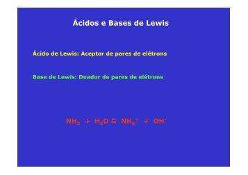 Ácidos e Bases de Lewis