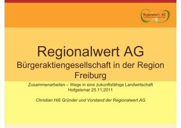 Regionalwert AG, Eichstetten am Kaiserstuhl