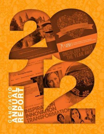 CANO/ACIO Annual Report 2011/2012 1
