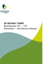 WI MOFINA TAMPE Beukelsweg 101 – 141 Rotterdam ... - Laurens