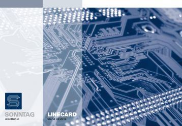 Linecard (PDF) - Sonntag electronic