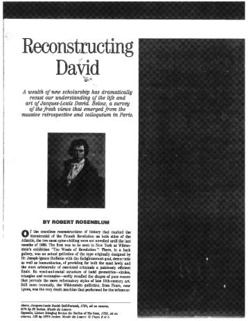 Rosenblum on David
