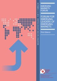 FORUM FOR EMERGING LEADERS OF EMERGING MARKETS - Emerging Markets ...