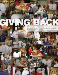 Giving Back - American Culinary Federation