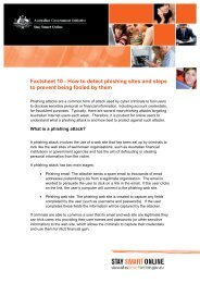Factsheet 10 - How to detect phishing sites and ... - Stay Smart Online
