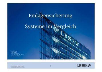 Einlagensicherung - Systeme im Vergleich - Kapitalmarktforum ...