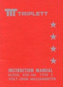 Triplett modelo 630-na manual de instrucciones de tipo 2 envío.
