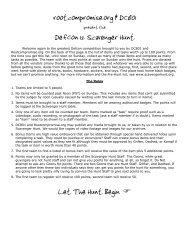 rootcompromise.org & DC801 DefCon 12 Scavenger Hunt Let The ...
