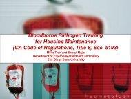 Bloodborne Pathogen Training for Housing Maintenance [PDF]