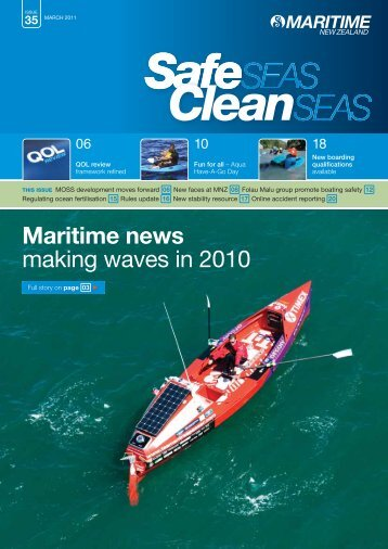 Clean Seas, Safe Seas - Maritime New Zealand