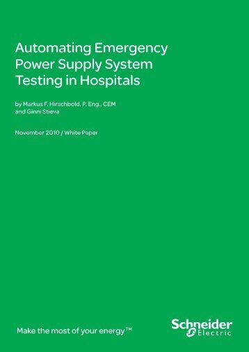 Automating Emergency Power Supply System ... - Schneider Electric