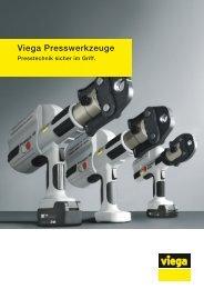 Prospekt Viega Presswerkzeuge - Presstechnik sicher im Griff