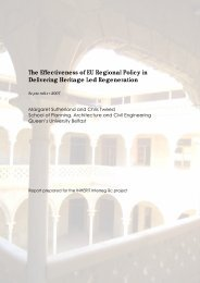 The Effectiveness of EU Regional Policy in Delivering Heritage Led ...