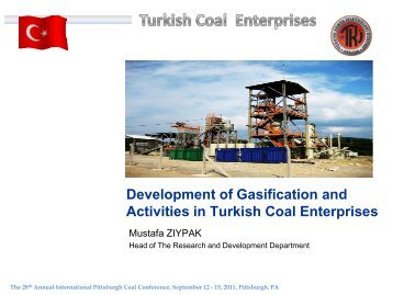 Development of Gasification and Activities in Turkish Coal Enterprises