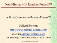 A Brief Overview of Random Forests - INFORMS NY
