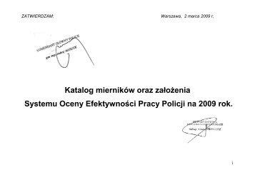 Katalog mierników oraz założenia Systemu Oceny Efektywności ...