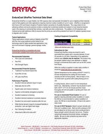 EnduraCoat UltraFlex TDS - Drytac