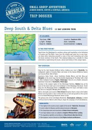 Deep South & Delta Blues 12 Day LoDging Tour - Adventure ...