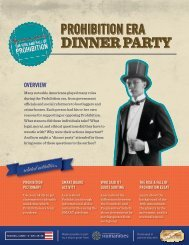 Prohibition-era Dinner Party - American Spirits: The Rise and Fall of ...