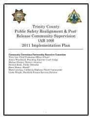 Trinity County - Chief Probation Officers of California