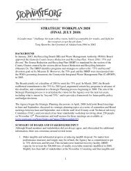 STRATEGIC WORKPLAN 2020 (FINAL JULY 2010) - StopWaste.org