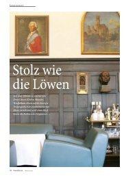 Seit über 200 Jahren existiert der Zwei-Löwen-Klub in Münster ...