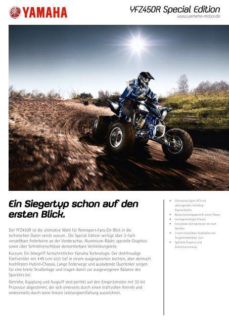 YFZ450R Special Edition - Zweiradhaus Mielke