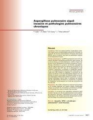 Aspergillose pulmonaire aiguë invasive et pathologies ... - SPLF