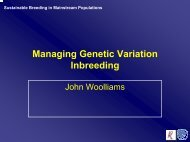 Sustainable Breeding in Mainstream Populations