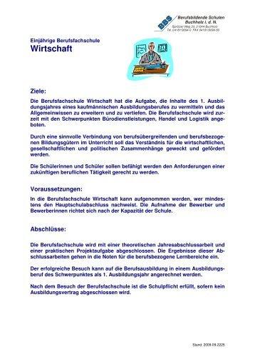BFS Wirtschaft - BBS Buchholz