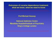 Outcomes of cocaine dependence treatment: what we know ... - Dronet