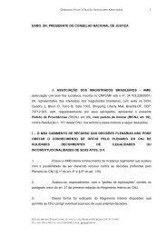 EXMO. SR. PRESIDENTE DO CONSELHO NACIONAL DE ... - AMB