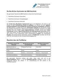 Berufliches Gymnasium Gesundheit - BBS Buchholz