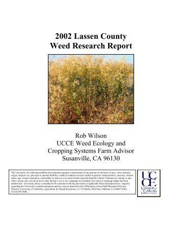 2002 Lassen Weed Research Report - Lassen County