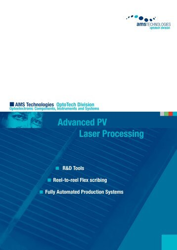 Advanced PV Laser Processing - AMS Technologies