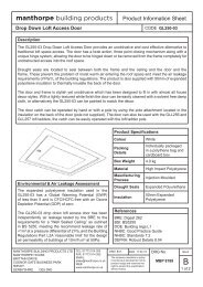 GL250-03 Loft Access Door Product Information ... - Insulation Giant