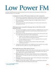 LPFM factsheet 2.indd - Prometheus Radio Project