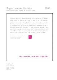 Rapport annuel d'activité 2006 - Institut universitaire romand de ...