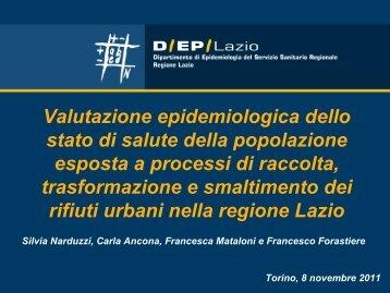 Valutazione epidemiologica dello stato di salute della popolazione ...