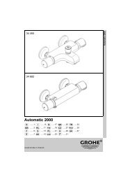 Automatic 2000 - GROHE - Robinetteries, salle de bains, douches ...