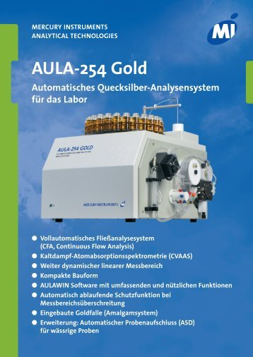 AULA-254 Gold - Mercury Instruments